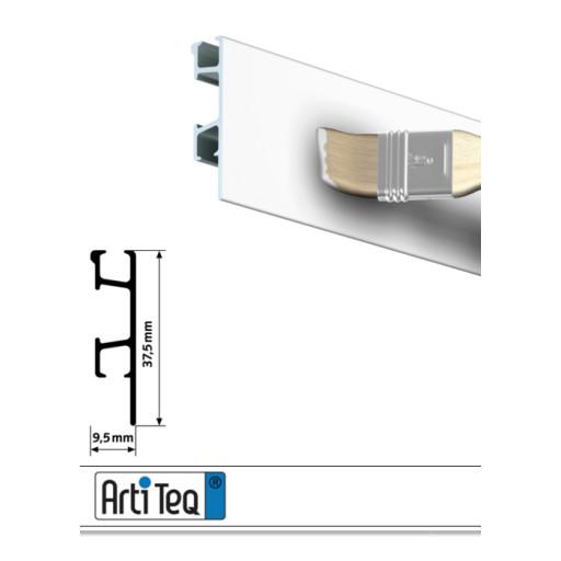 Bilderschiene Click Rail Pro Weiß grundiert 200 cm