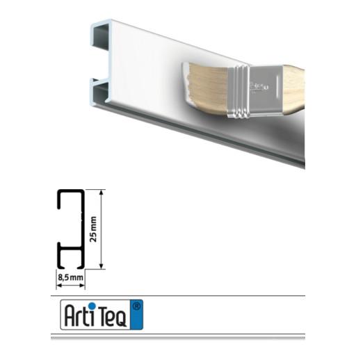 Bilderschiene Click Rail Weiß grundiert 200 cm