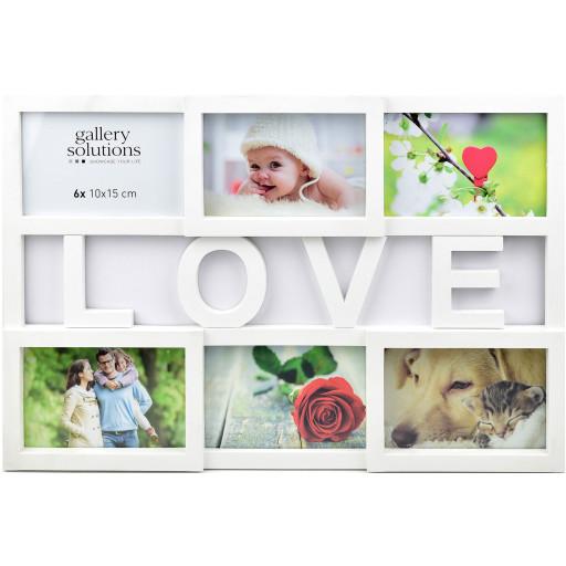 Collage-Rahmen Love 10 weiß