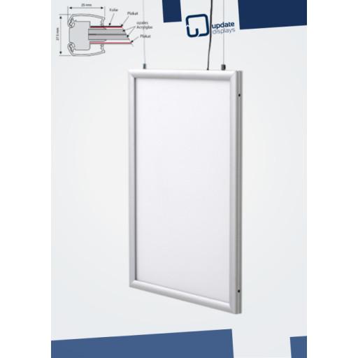 LED Leuchtrahmen Slim Frame Economy doppelseitig