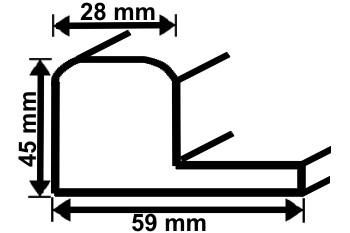 schattenfugenrahmen 50787 bilderrahmen f r keilrahmen bilderrahmen. Black Bedroom Furniture Sets. Home Design Ideas