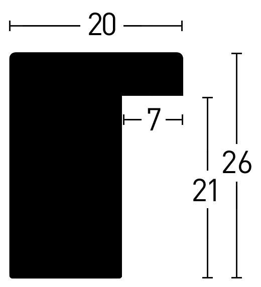 holzrahmen blackwoods 20x26 holzbilderrahmen nach ma ma anfertigung. Black Bedroom Furniture Sets. Home Design Ideas