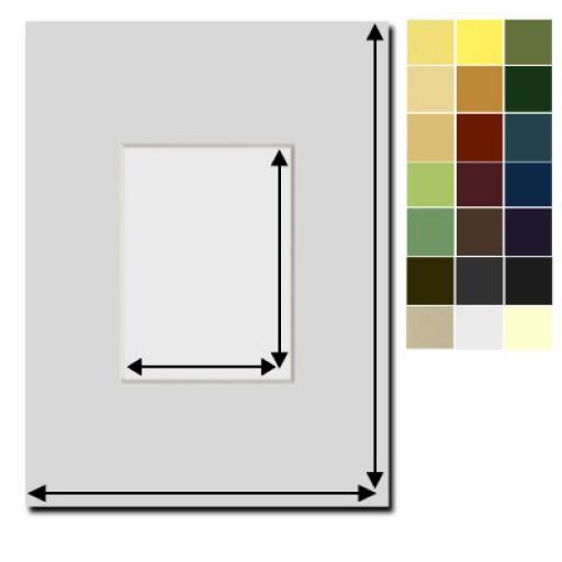 passepartout nach ma. Black Bedroom Furniture Sets. Home Design Ideas