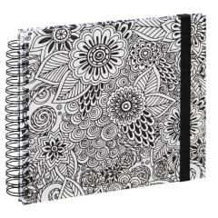 """Spiral-Buch """"Colorare"""" 28x24/50 Blumen"""