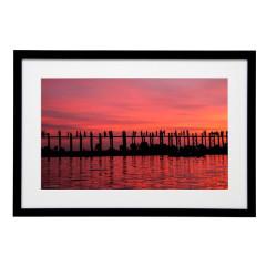 Gerahmtes Bild Sundown Nr11 – Kunststoffrahmen Schwarz