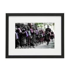 Gerahmtes Bild Zen Nr20 – Kunststoffrahmen Schwarz 30 x 40