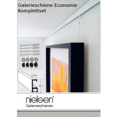 Nielsen Galerieschiene Economy 1,5m, incl. Zubehör