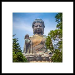 "Nielsen Gerahmtes Bild ""Statue of Buddha"" 50,0 x 50,0 cm"