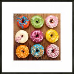 "Nielsen Gerahmtes Bild ""Donuts"" 50,0 x 50,0 cm"