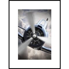 "Nielsen Gerahmtes Bild ""Airplane Chrome"" 60,0 x 80,0 cm"