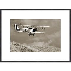 "Nielsen Gerahmtes Bild ""Altes Flugzeug"" 80,0 x 60,0 cm"