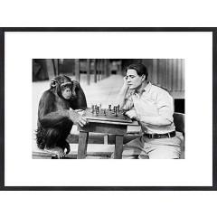 """Nielsen Gerahmtes Bild """"Schach mit einem Affen"""" 80,0 x 60,0 cm"""
