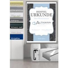 Urkundenrahmen aus Aluminium
