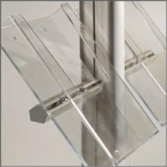 Acryl-Prospektablage DIN A4 seitlich