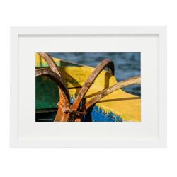 Gerahmtes Bild Malta Nr20 – Kunststoffrahmen Weiß 30 x 40