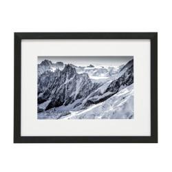 Gerahmtes Bild Mountain Nr11 – Kunststoffrahmen Schwarz
