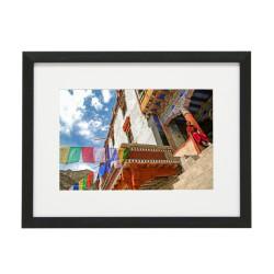 Gerahmtes Bild Nepal Nr23 – Kunststoffrahmen Schwarz