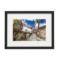 Gerahmtes Bild Nepal Nr25 – Kunststoffrahmen Schwarz