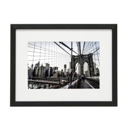 Gerahmtes Bild New York Nr10 – Kunststoffrahmen Schwarz