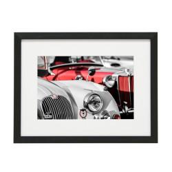 Gerahmtes Bild Oldtimer Cars Nr10 – Kunststoffrahmen Schwarz 30 x 40