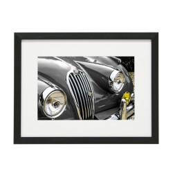 Gerahmtes Bild Oldtimer Cars Nr11 – Kunststoffrahmen Schwarz