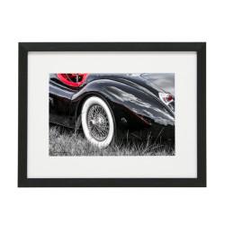Gerahmtes Bild Oldtimer Cars Nr12 – Kunststoffrahmen Schwarz