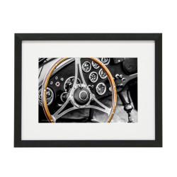 Gerahmtes Bild Oldtimer Dashboard Nr11 – Kunststoffrahmen Schwarz