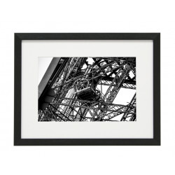 Gerahmtes Bild Paris Nr30 – Kunststoffrahmen Schwarz