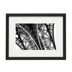 Gerahmtes Bild Paris Nr31 – Kunststoffrahmen Schwarz
