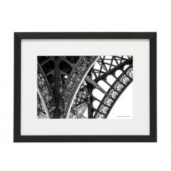 Gerahmtes Bild Paris Nr32 – Kunststoffrahmen Schwarz