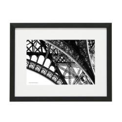Gerahmtes Bild Paris Nr33 – Kunststoffrahmen Schwarz