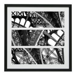 Gerahmtes Bild Paris Nr40 – Kunststoffrahmen Schwarz 70 x 70