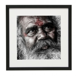 Gerahmtes Bild People Nr22 – Kunststoffrahmen Schwarz