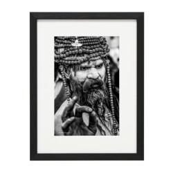 Gerahmtes Bild People Nr30 – Kunststoffrahmen Schwarz