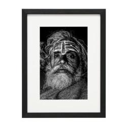 Gerahmtes Bild People Nr32 – Kunststoffrahmen Schwarz