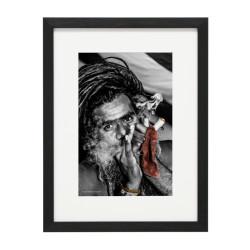 Gerahmtes Bild People Nr41 – Kunststoffrahmen Schwarz
