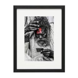 Gerahmtes Bild People Nr42 – Kunststoffrahmen Schwarz