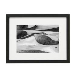 Gerahmtes Bild Sand Nr13 – Kunststoffrahmen Schwarz