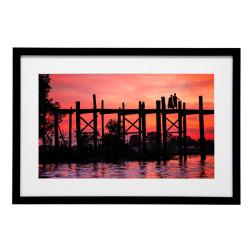 Gerahmtes Bild Sundown Nr12 – Kunststoffrahmen Schwarz