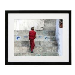 Gerahmtes Bild Zen Nr11 – Kunststoffrahmen Schwarz 40 x 50