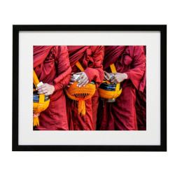 Gerahmtes Bild Zen Nr12 – Kunststoffrahmen Schwarz 40 x 50