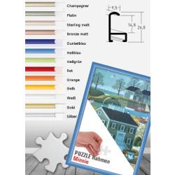Alu Puzzlerahmen Minnie für 300 bis 3.000 Teile mit Antireflex-Acrylglas