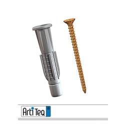 Dübel und Schraube für Bilderschienensystem Click & Connect