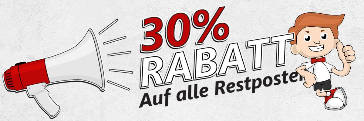30% Rabatt für Restposten