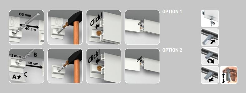Click Rail Pro Installationsanleitung
