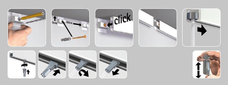 Anleitung Click Rail Bilderschiene