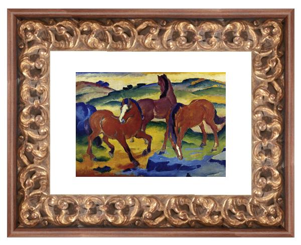 verzierter Barockbilderrahmen in Altgold