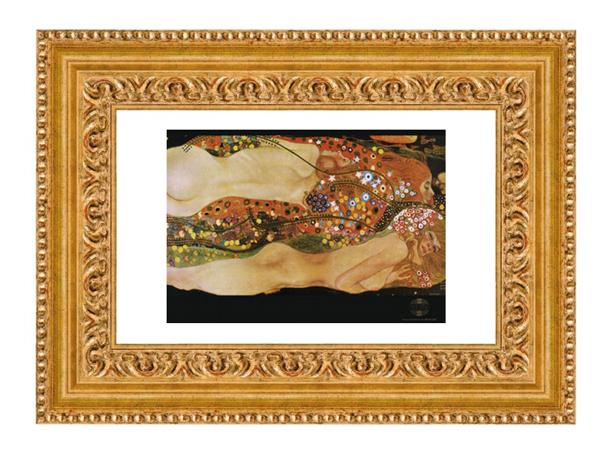 goldener Barockbilderrahmen
