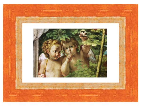 Beispiel Holzbilderrahmen Orange